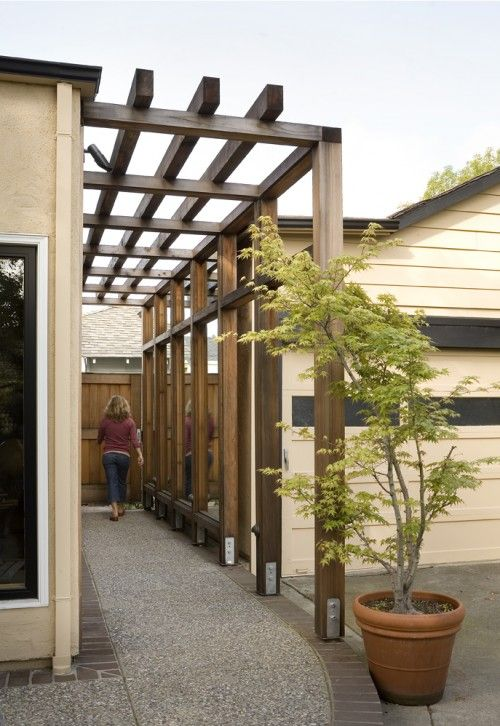 pergola design - very clean and modern