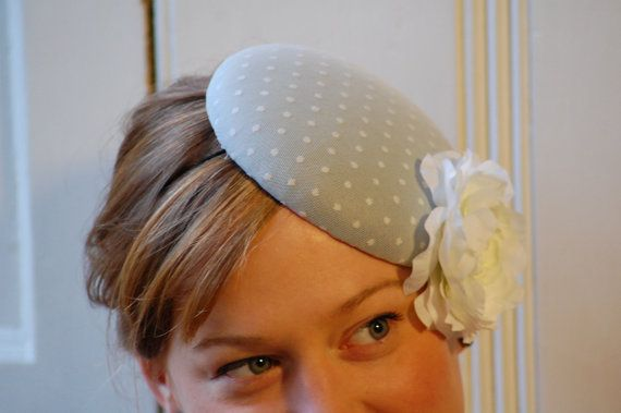 vintage style pillbox hat / fascinator, HeatherFeatherDesign £45.00