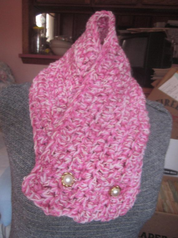 Scarf Cowl Collar GIRLS TEENS Button Close by HandcraftedInHebron