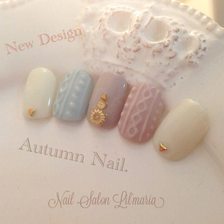 winter knit nail
