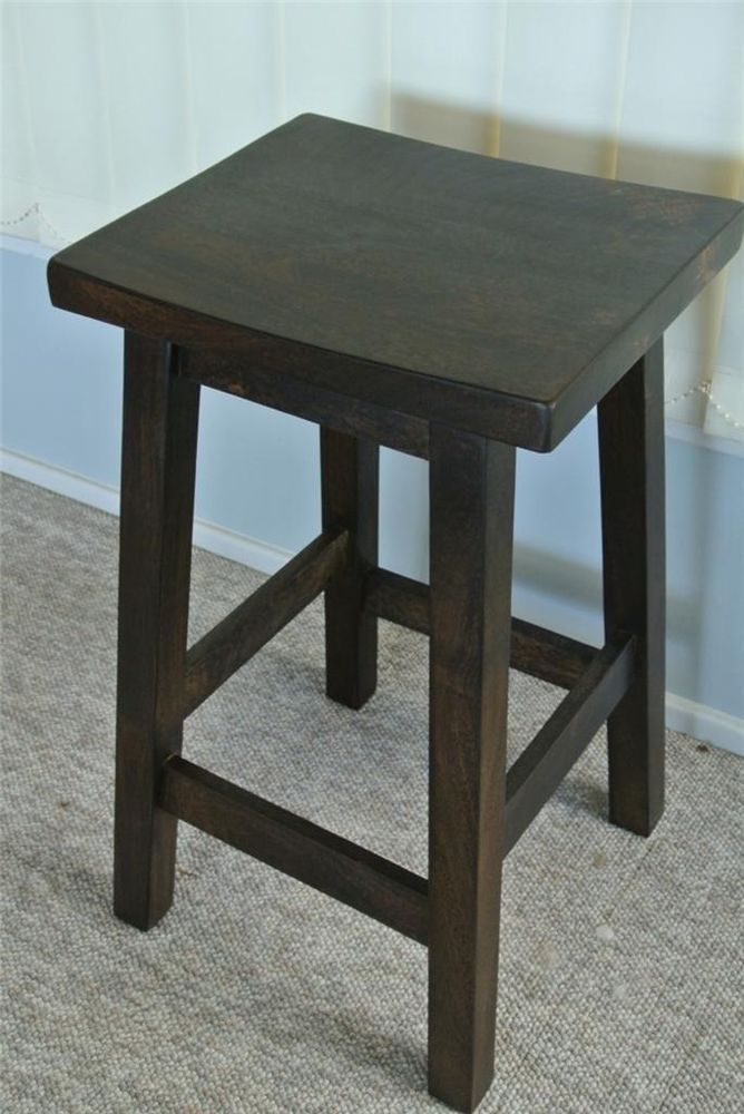 Top Quality Charcoal Shabby & Chic Timber Bar Stool