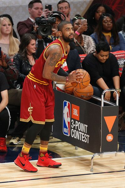 Kyrie Irving Photos - Kyrie Irving #2 of the Cleveland Cavaliers competes in the 2017 JBL Three-Point Contest at Smoothie King Center on February 18, 2017 in New Orleans, Louisiana. NOTE TO USER: User expressly acknowledges and agrees that, by downloading and/or using this photograph, user is consenting to the terms and conditions of the Getty Images License Agreement. - JBL Three-Point Contest 2017