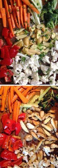 Dietní příloha - samá zelenina - vše z jednoho pekáčku