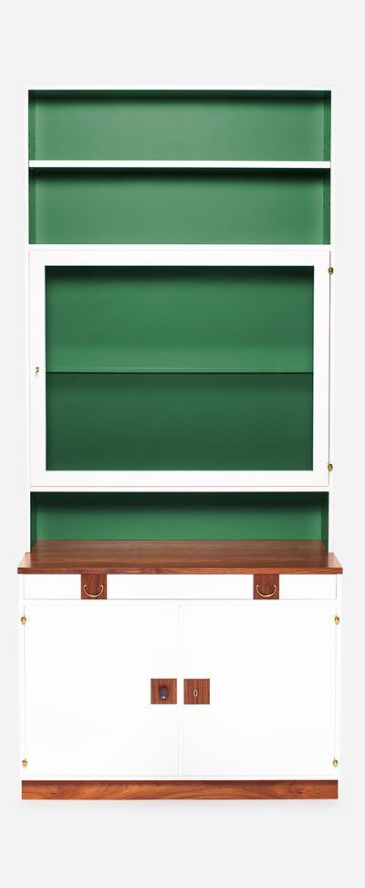 Bookcase 2255 with Glass Cabinet