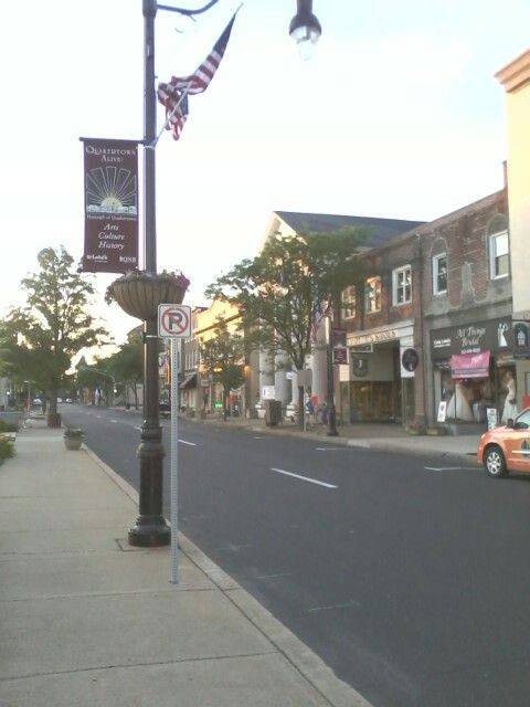 Early sunrise in Downtown Quakertown PA-Quakertown PA