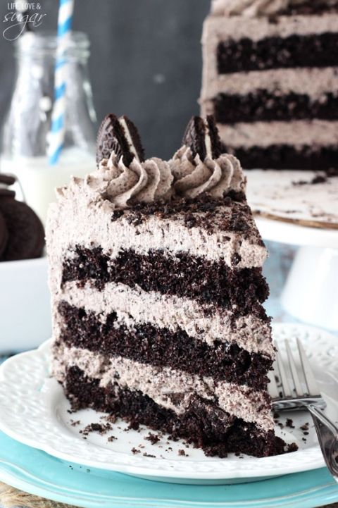 *Chocolate Oreo Cake~ this was the birthday boys choice... It was good for the kids, they loved it, sort of. It's very sweet and they barely finished even the smallest slice. The cake is super good and moist.