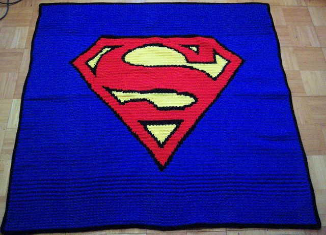 superman crochet blanket by ~crochetamommy on deviantART
