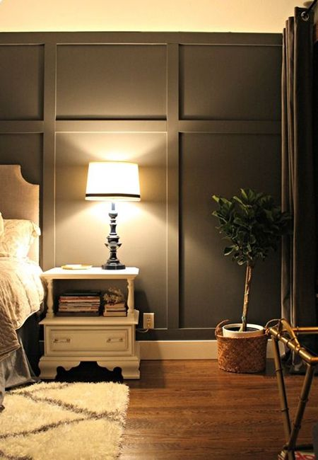It s easy to add character and architectural detail with MDF panelling   This trend will suit   Gray Accent WallsBedroom. Best 10  Modern wall paneling ideas on Pinterest   Wall cladding
