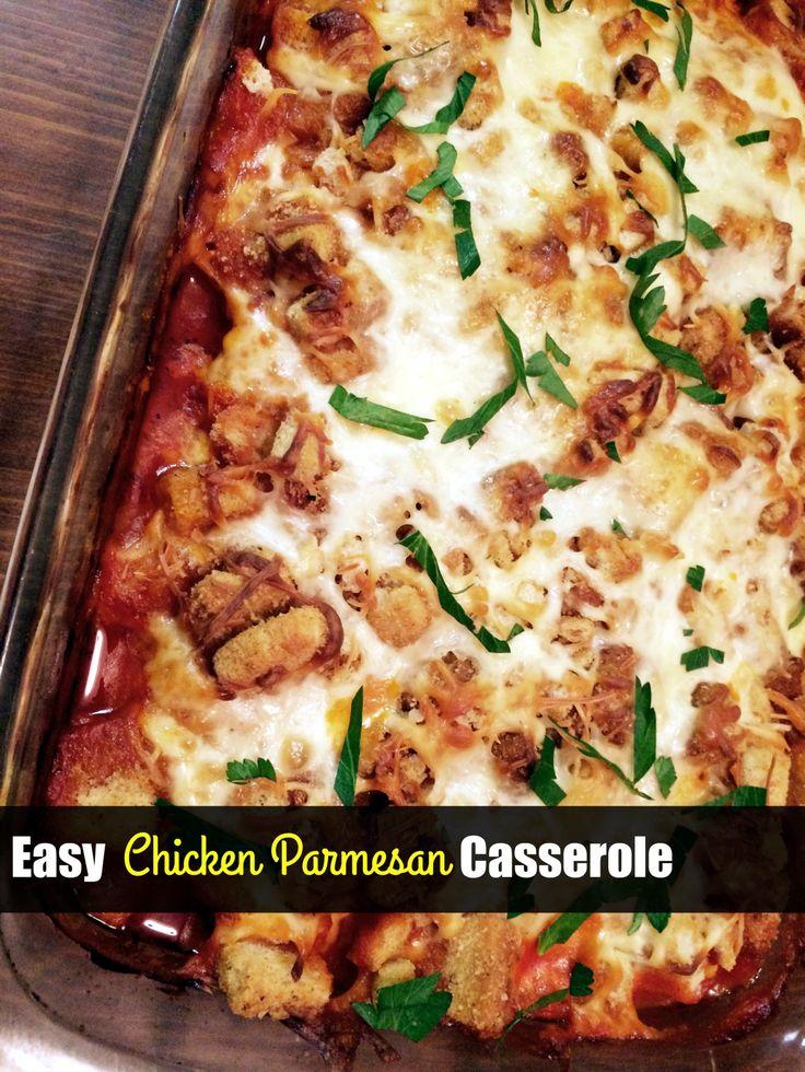 Easy Chicken Parmesan Casserole Aunt Bee S Recipes Casseroles In 2019 Chicken Parmesan