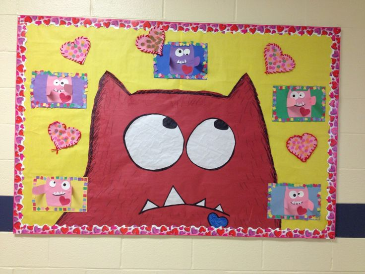 Love Monster bulletin board I did for February. It came out rather cute!