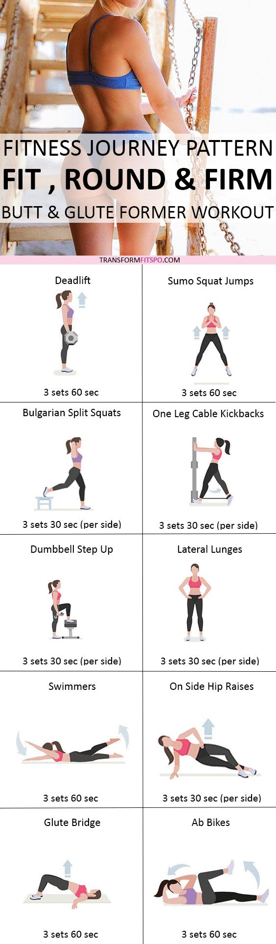 Repin and share if this workout grew your bum! Read the post for all the workouts!