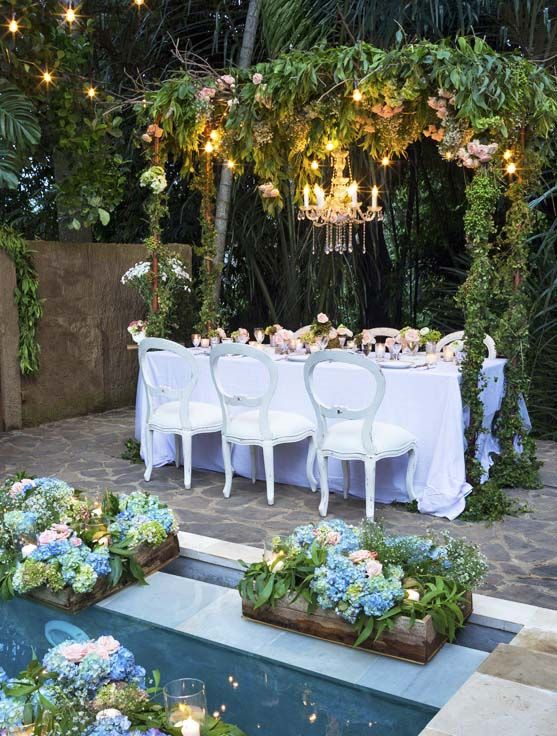 Romantic vintage chairs on beautiful setup | Bali Ultimate Furniture Rental | Flowers by Bloomz