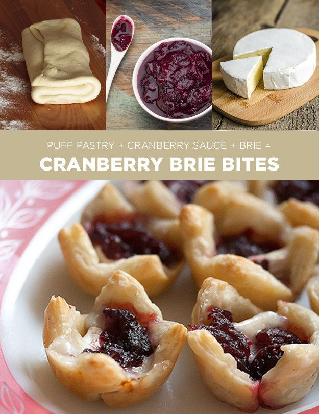 Cranberry Brie Bites | 11 Simple Holiday Treats You Can Make In Four Ingredients Or Fewer