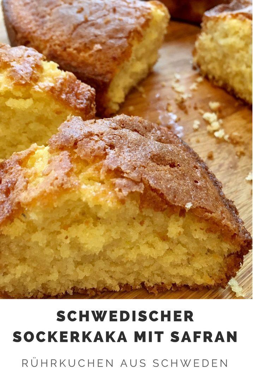 Schwedischer Sockerkaka mit Safran – Rezept für leckeren Rührkuchen aus Schweden
