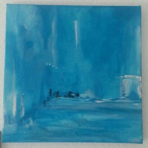 "Petite toile acrylique  ""Only blue """