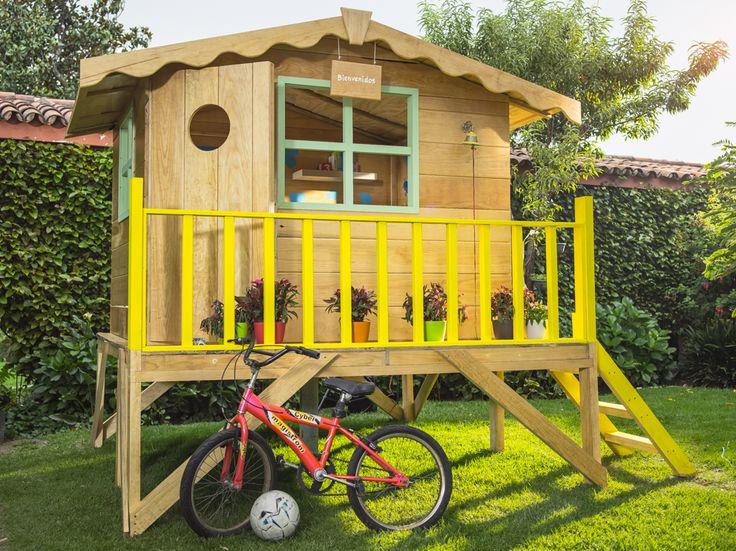 Te compartimos una excelente idea de una casita de madera for Casitas de jardin de madera