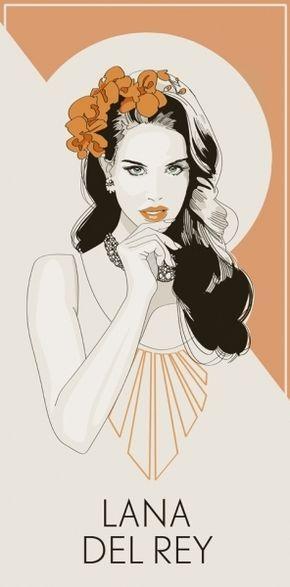 love this. portrait of lana del rey by Jo Ley - Continued! Lana Del Rey Art Nouveau portrait fan art