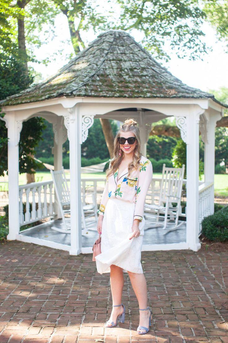 Floral Pajama Shirt | Louella Reese | Charlotte Life & Style Blog