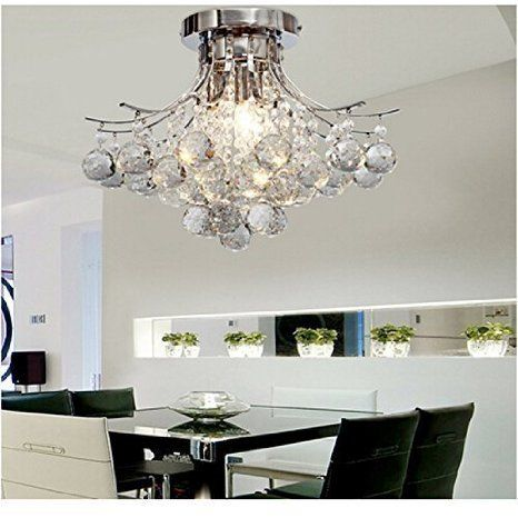 ALFRED Moderna Candelabro de Cristal con 3 Luces (acabado cromado) ,Techo luz,montaje empotrado,Bedroom, Living…