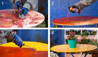 ¿Cómo renovar una mesa de fierro?