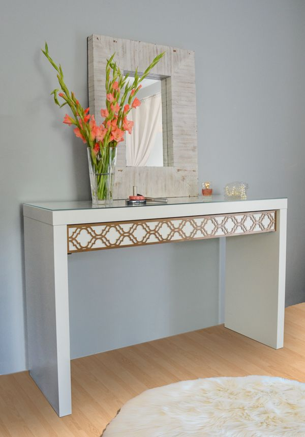 O'verlays Kit for Ikea Malm Dressing Table.  Add a little glamour to your style.