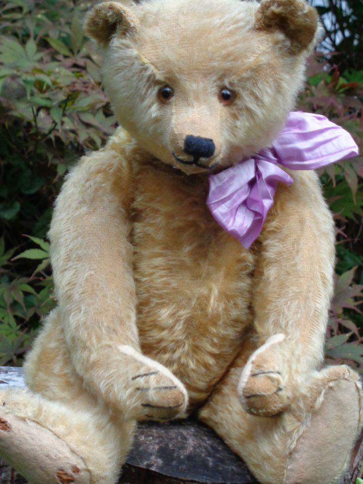 RARE Antique Steiff Teddy Bear Long Nose 1918 1927 Mohair Hunchback Bear Button | eBay