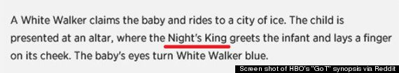 """The Night's King is a character that is speculated about in Martin's """"A Song of Ice and Fire"""" novels, the inspiration for HBO's """"GoT,"""" but h..."""