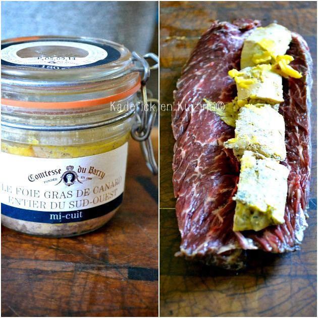 Plancha onglet - Rôti d'onglet de boeuf farci de foie gras mi-cuit à la plancha - Kaderick en Kuizinn #boeuf #onglet #roti #foiegras #plancha #fêtes #fêtesdesmeres