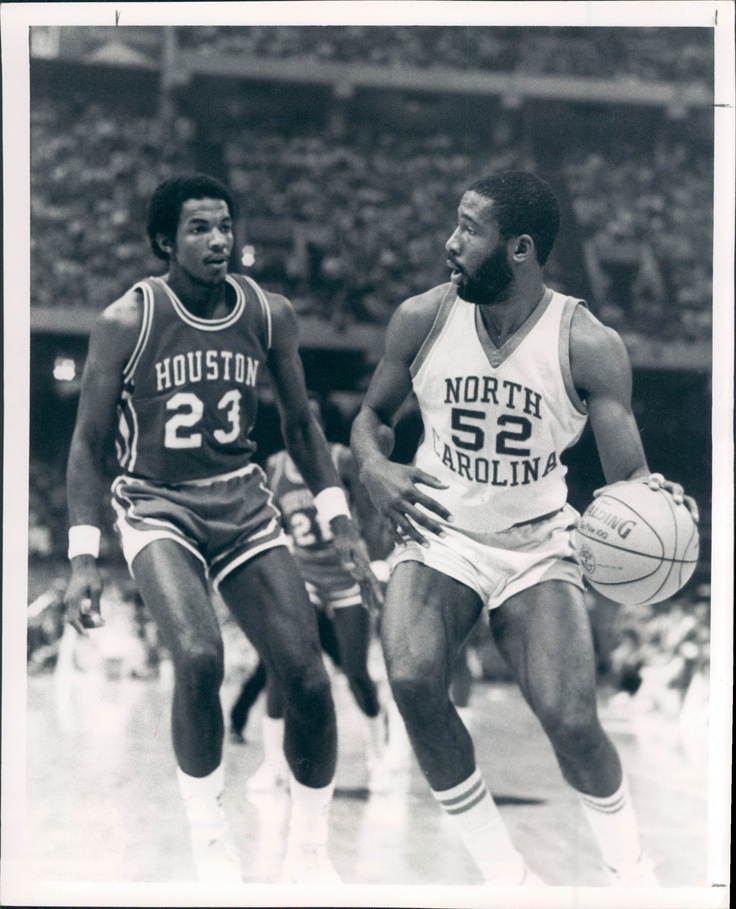 James Worthy and Clyde Drexler- 1982