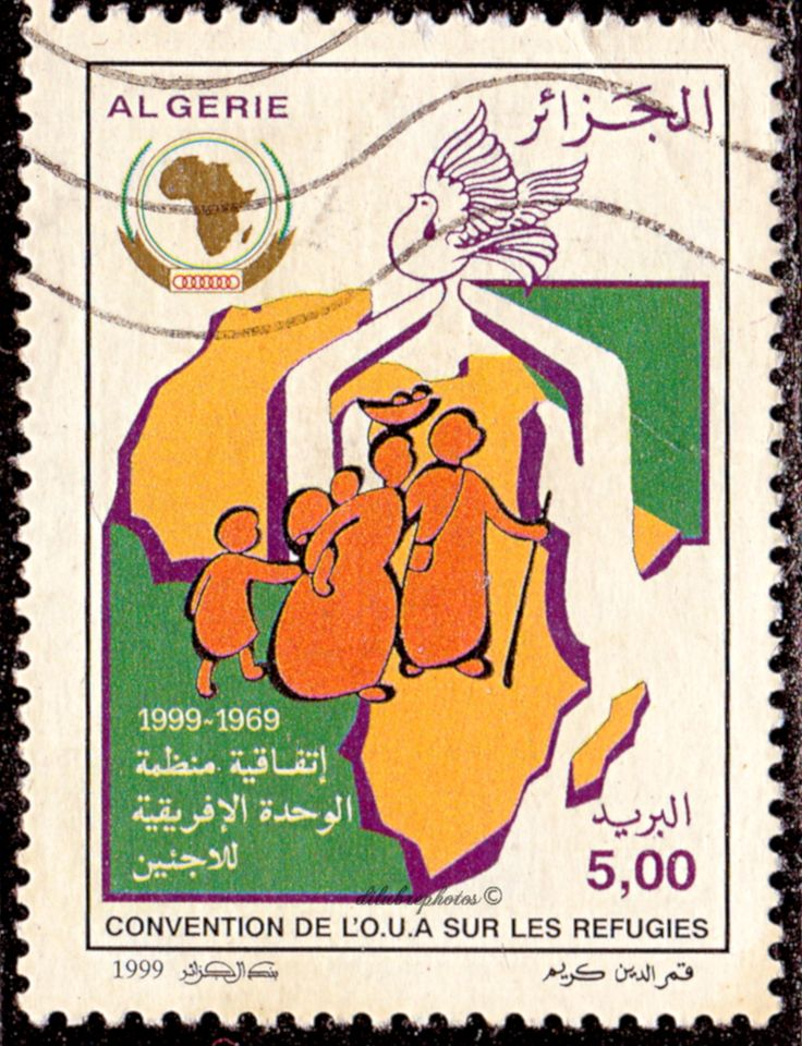 Algeria.  Organization of African Unity Convention on Refugees.  Scott 158 A474, Issued 1999 July12, 5d. /ldb.