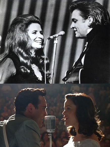 [UP] JOHNNY CASH AND JUNE CARTER [DOWN] JOAQUIN PHOENIX AND REESE WITHERSPOON