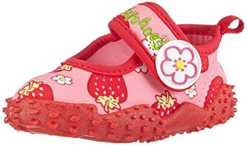 Playshoes Badeschuhe Erdbeeren mit h�chstem UV-Schutz nach Standard 801 174757, M�dchen Aqua Schuhe, Pink (original 900), 32/33 EU