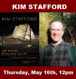 5/16/13: Kim Stafford, author of 100 Tricks Every Boy Can Do, 12pm at Hood River Campus of Columbia Gorge Community College
