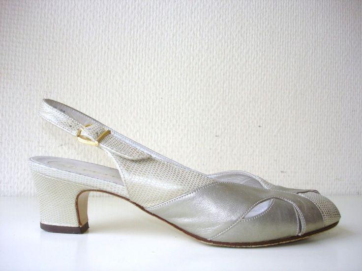 Peter Kaiser slingback pumps shoes vintage (nr. 0515)