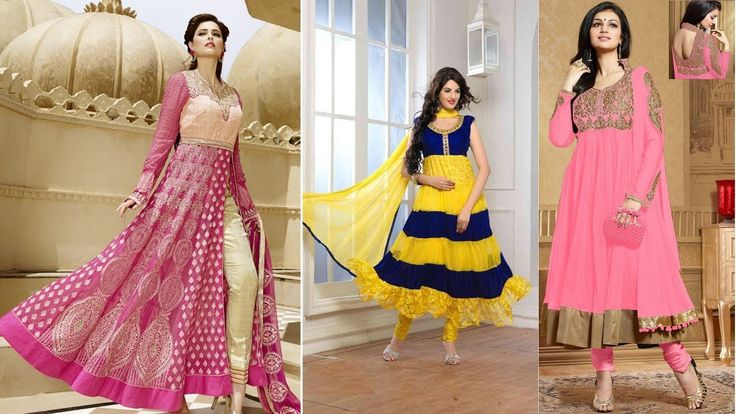 Latest Designer Anarkali dresses Designs: Indian Anarkali Gown Dress & L...