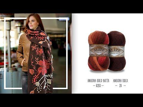 Zincir işi şala etkili ve güzel bir örnek - Effective and beautiful pattern to chain work shawl - YouTube