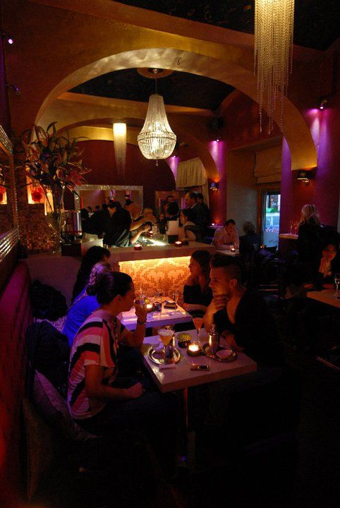 Jewel Café Bar in the evening