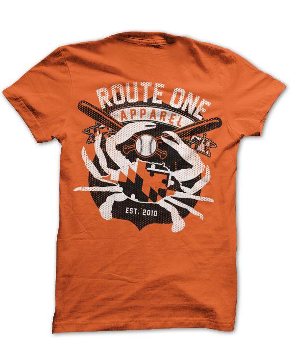Route One Apparel Baltimore Baseball Flag & Crab (Orange) / Shirt