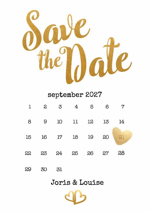 Verplaats het hart naar de datum van je trouwdag. De nummers 28, 29, 30 en 31 zijn te verwijderen. Als enkele- en als dubbele kaart te gebruiken.