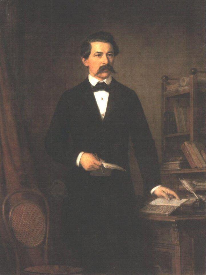 """""""A nép fontosabb dolgot is megért, csak nyelvén adják elő, anélkül, hogy egy szóért lapokra terjedő magyarázatokat kívánna. Egyszerűen, néhány szóban megmondani neki valamit; ez a dolog veleje."""" Arany János (1817-1882) - költő fotón: Barabás Miklós (1810-1898) - Arany János portréja - Magyar Tudományos Akadémia - Budapest"""