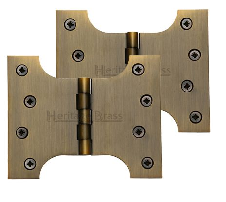 Heritage Brass 5 Inch Parliament Hinges, Antique Brass - HG99-390-AT (sold in pairs) None