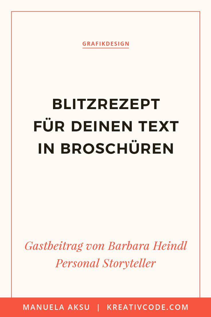 Blitzrezept für deinen Text in Broschüren