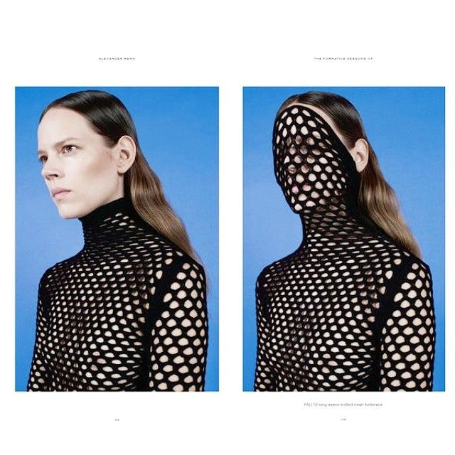 Alexander Wang Fall 2012 turtleneck on Freja Beha Erichsen, shot by Amy Troost for Industrie Magazine No.7