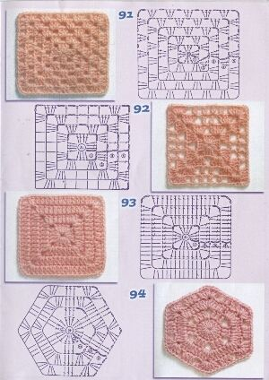 As Receitas de Crochê: Squares de crochê