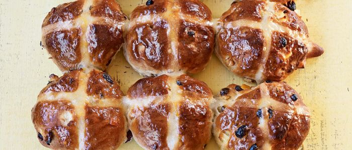 Packed with flavour, these are real hot cross buns.