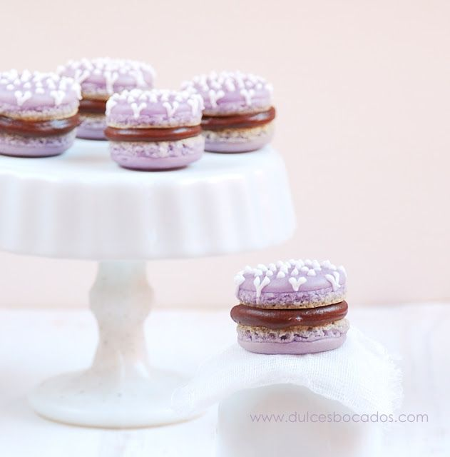 Violet Macarons With Violet And Vanilla Bean Buttercream ...