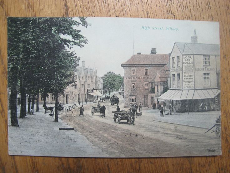 Old 1906 postcard of High Street WITNEY in Oxfordshire Oxon   eBay