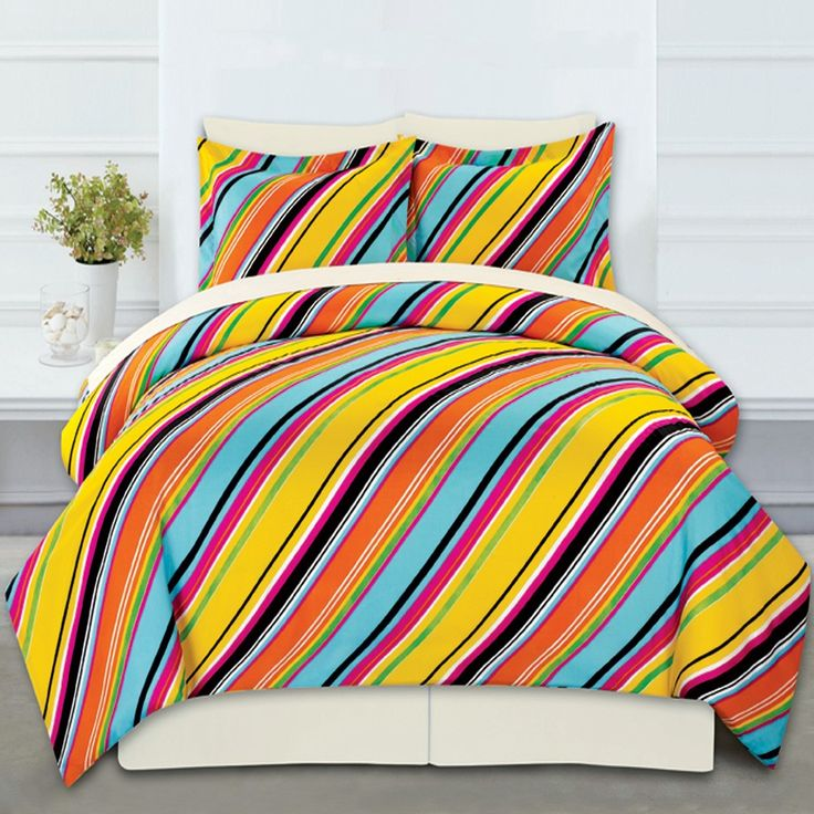 Complete Bed Ensemble - Stripes Design