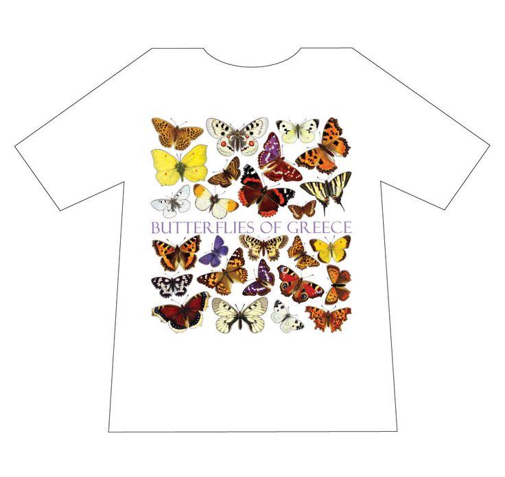 Nature T-shirts, Butterflies of Greece, T-shirt, mediterraneo editions, www.mediterraneo.gr