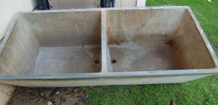 how to build a concrete water trough